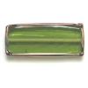 Glass Lamp Bead Prism 32x14x8mm Olivine/Bronze